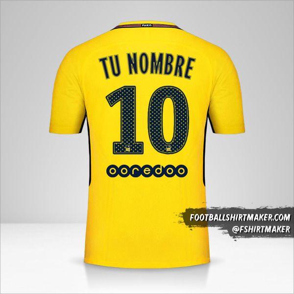 Camiseta Paris Saint Germain 2017/18 II número 10 tu nombre