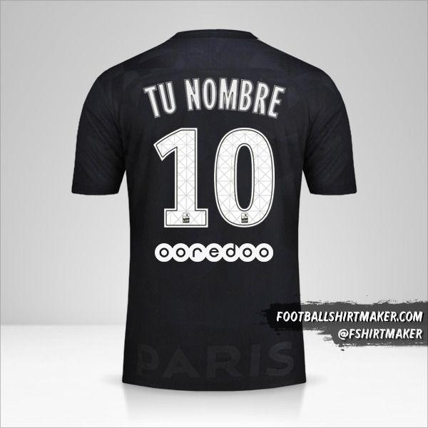 Camiseta Paris Saint Germain 2017/18 III número 10 tu nombre