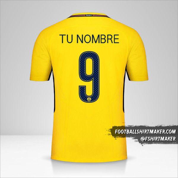 Camiseta Paris Saint Germain 2017/18 Cup II número 9 tu nombre