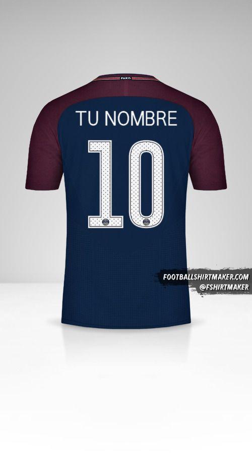 Camiseta Paris Saint Germain 2017/18 Cup número 10 tu nombre