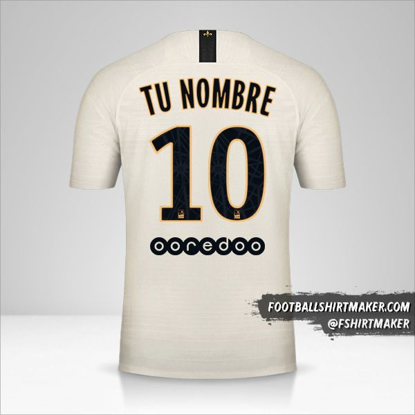 Camiseta Paris Saint Germain 2018/19 II número 10 tu nombre