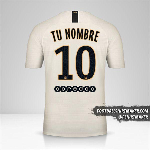 Camiseta Paris Saint Germain 2018/19 II número 10 tu nombre