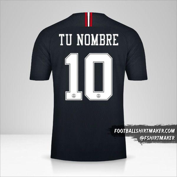 Camiseta Paris Saint Germain 2018/19 Jordan número 10 tu nombre