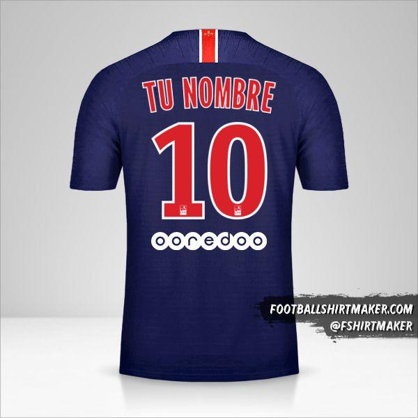 Camiseta Paris Saint Germain 2018/19 número 10 tu nombre