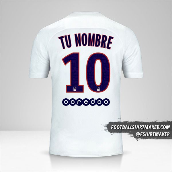 Camiseta Paris Saint Germain 2019/20 III número 10 tu nombre