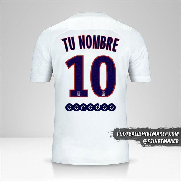 Camiseta Paris Saint Germain 2019/20 III número 10 tu nombre