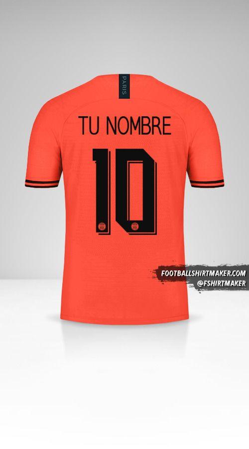 Camiseta Paris Saint Germain 2019/20 Cup II número 10 tu nombre
