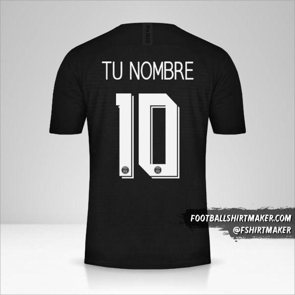 Camiseta Paris Saint Germain 2019/20 Cup IV número 10 tu nombre