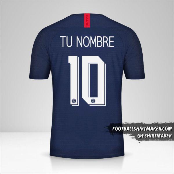 Camiseta Paris Saint Germain 2019/20 Cup número 10 tu nombre