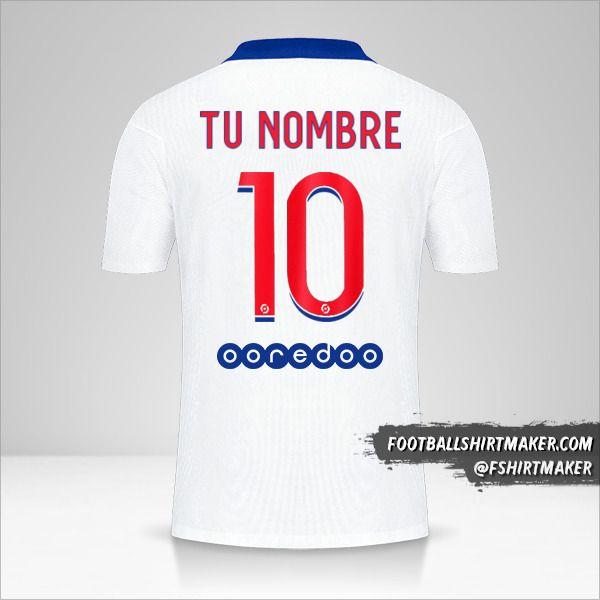 Camiseta Paris Saint Germain 2020/21 II número 10 tu nombre