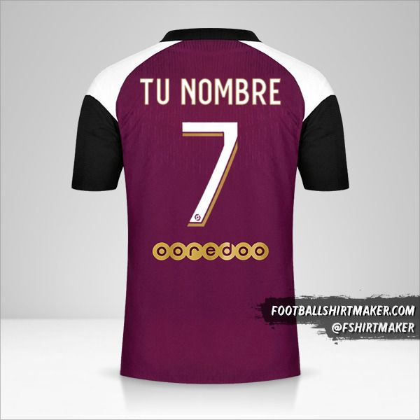 Camiseta Paris Saint Germain 2020/21 III número 7 tu nombre