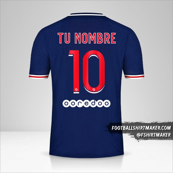 Camiseta Paris Saint Germain 2020/21 número 10 tu nombre