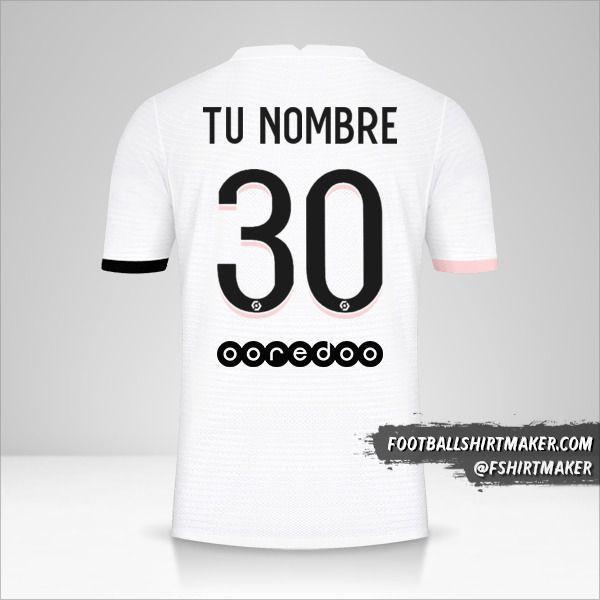 Camiseta Paris Saint Germain 2021/2022 II número 30 tu nombre