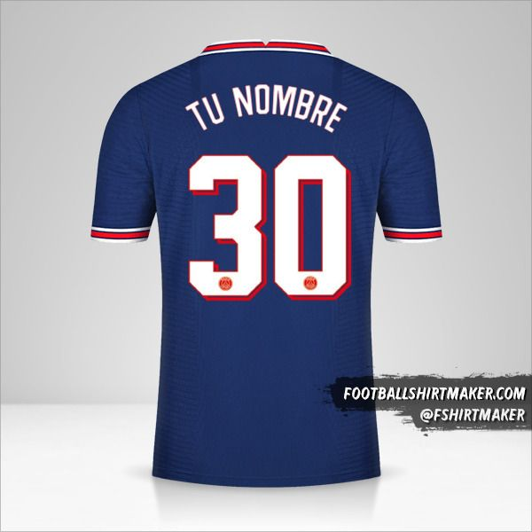 Camiseta Paris Saint Germain 2021/2022 Cup número 30 tu nombre