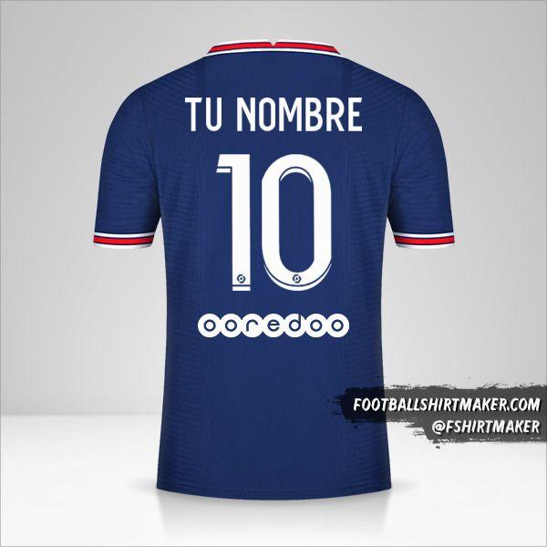 Camiseta Paris Saint Germain 2021/2022 número 10 tu nombre
