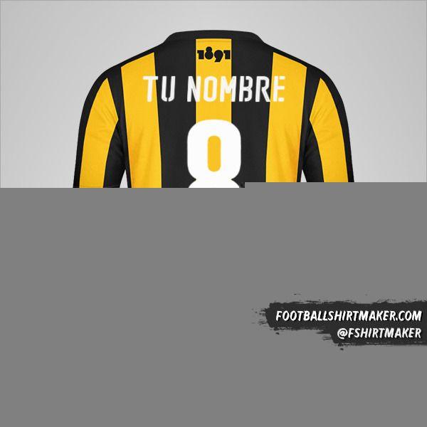 Camiseta Peñarol 2016/17 número 8 tu nombre