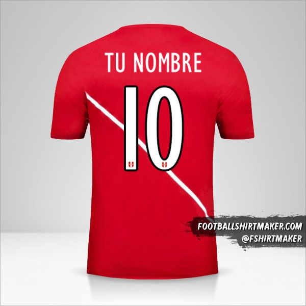Camiseta Peru 2015/16 II número 10 tu nombre