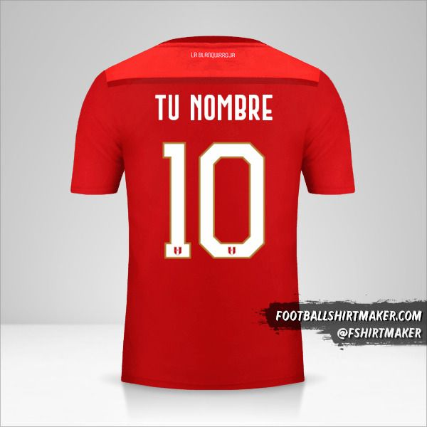 Camiseta Peru 2018/19 II número 10 tu nombre