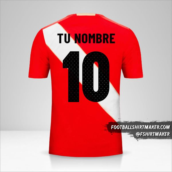 Camiseta Peru 2018 II número 10 tu nombre