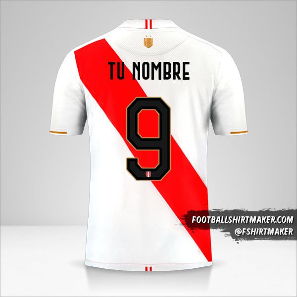 Camiseta Peru Copa América 2019 número 9 tu nombre