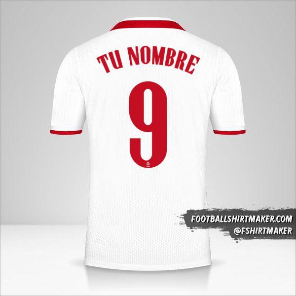 Camiseta Polonia 2020/2021 número 9 tu nombre