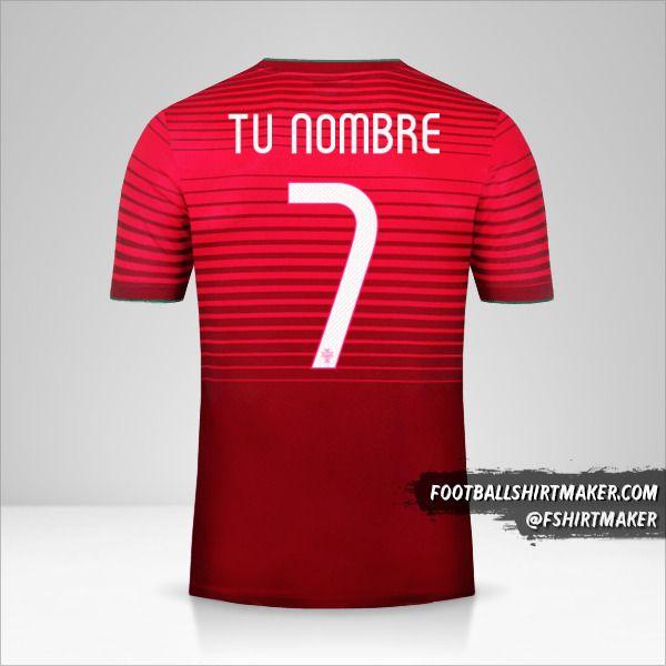 Camiseta Portugal 2014/15 número 7 tu nombre