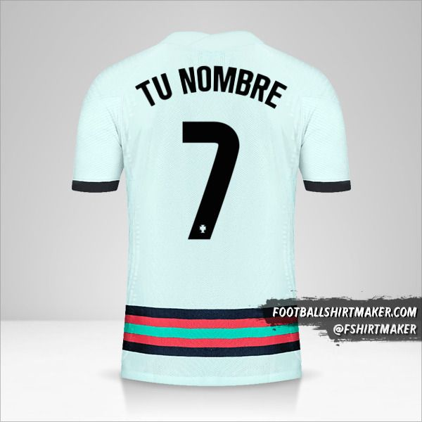 Camiseta Portugal 2020/2021 II número 7 tu nombre