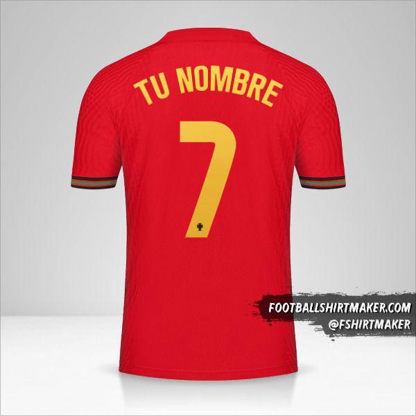 Camiseta Portugal 2020/2021 número 7 tu nombre