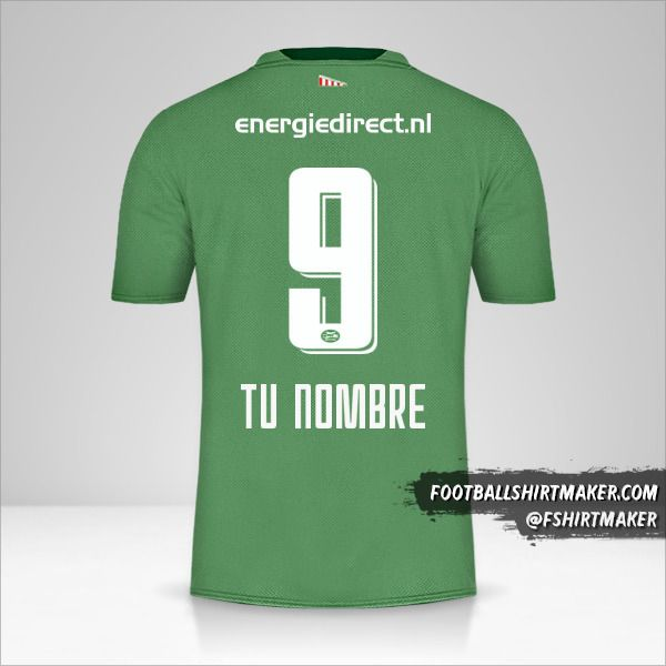Camiseta PSV 2019/20 III número 9 tu nombre