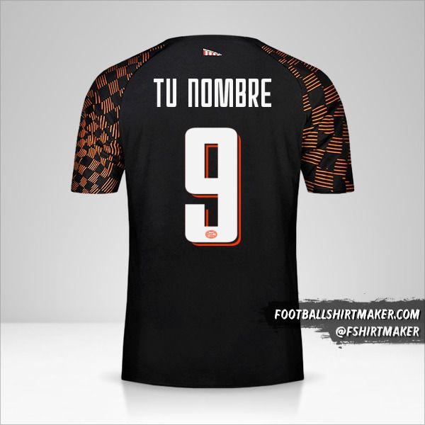 Camiseta PSV 2019/20 Cup II número 9 tu nombre