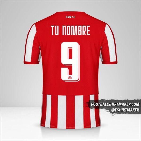 Camiseta PSV 2019/20 Cup número 9 tu nombre