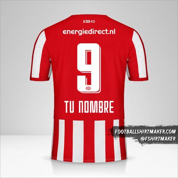 Camiseta PSV 2019/20 número 9 tu nombre