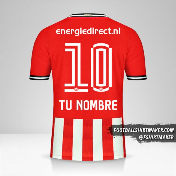 Camiseta PSV 2020/21 número 10 tu nombre