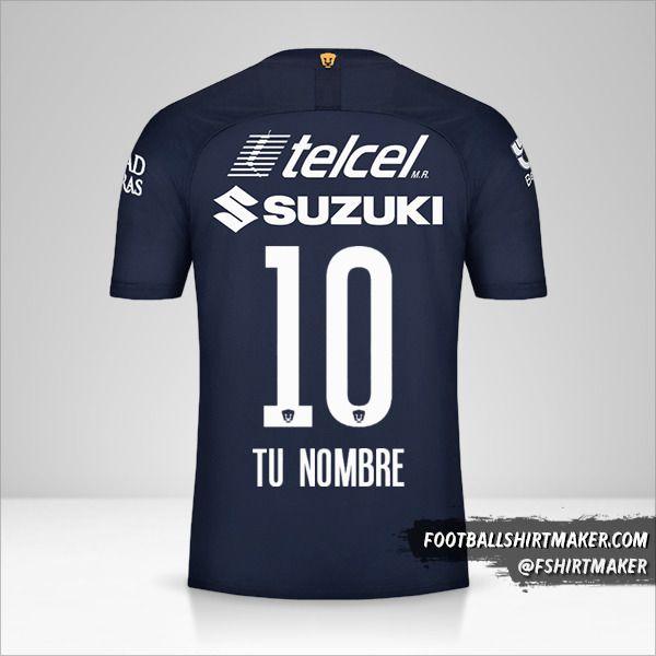 Camiseta Pumas UNAM 2019/20 III número 10 tu nombre