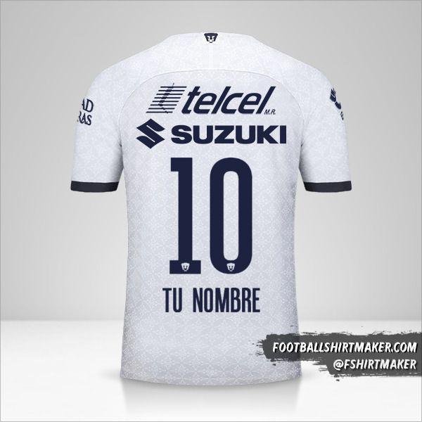 Camiseta Pumas UNAM 2019/20 número 10 tu nombre