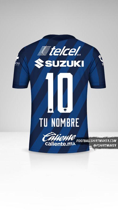 Camiseta Pumas UNAM 2020/21 II número 10 tu nombre