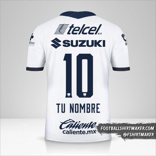 Camiseta Pumas UNAM 2020/21 número 10 tu nombre