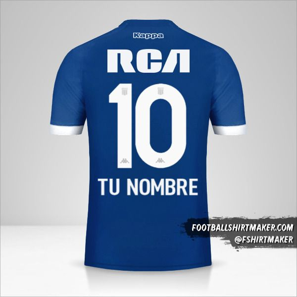 Camiseta Racing Club 2018 II número 10 tu nombre
