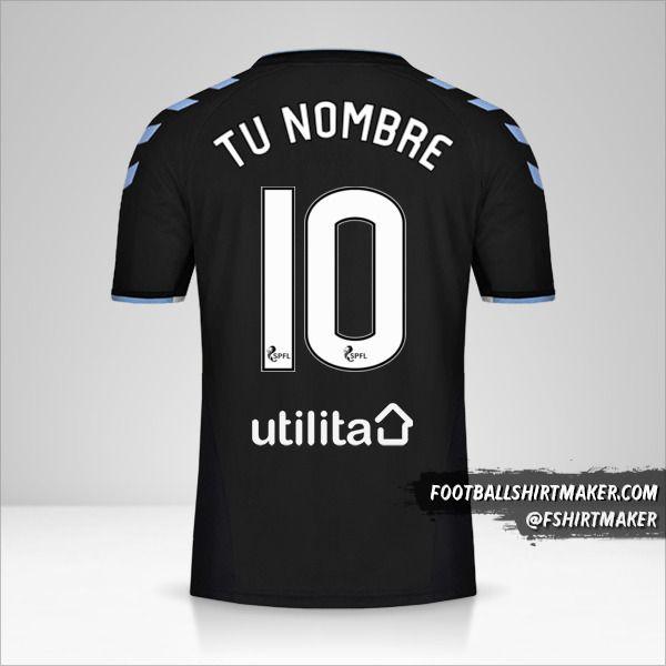 Camiseta Rangers FC 2019/20 II número 10 tu nombre