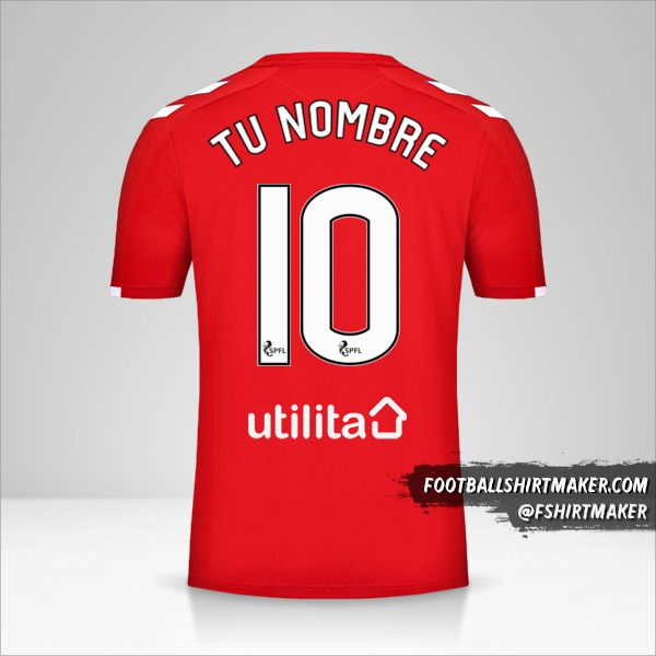 Camiseta Rangers FC 2019/20 III número 10 tu nombre