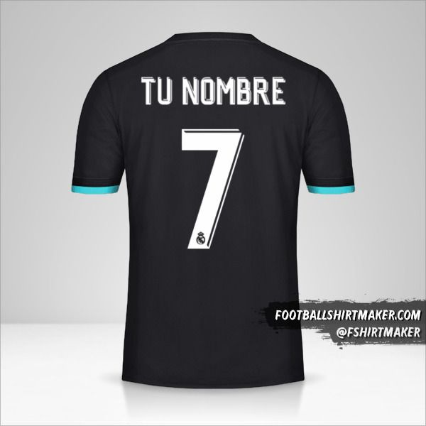 Camiseta Real Madrid CF 2017/18 Cup II número 7 tu nombre