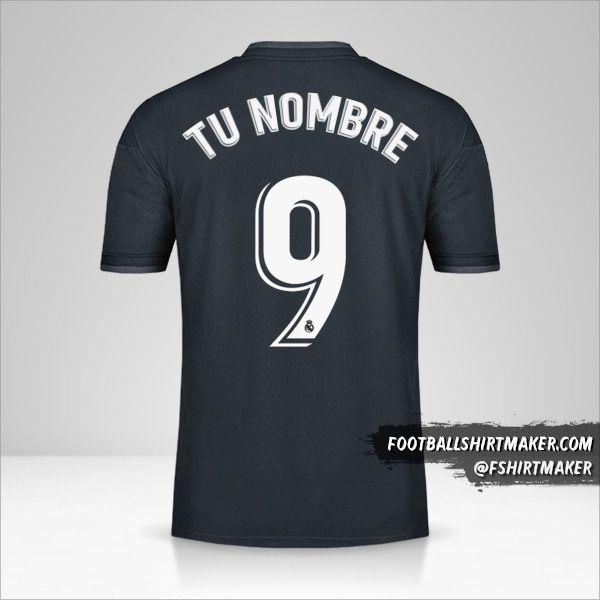 Camiseta Real Madrid CF 2018/19 II número 9 tu nombre