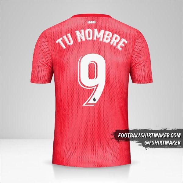 Camiseta Real Madrid CF 2018/19 III número 9 tu nombre
