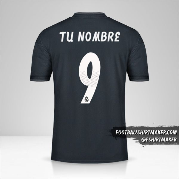Camiseta Real Madrid CF 2018/19 Cup II número 9 tu nombre