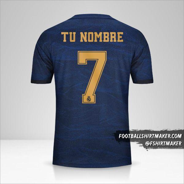 Camiseta Real Madrid CF 2019/20 Cup II  número 7 tu nombre