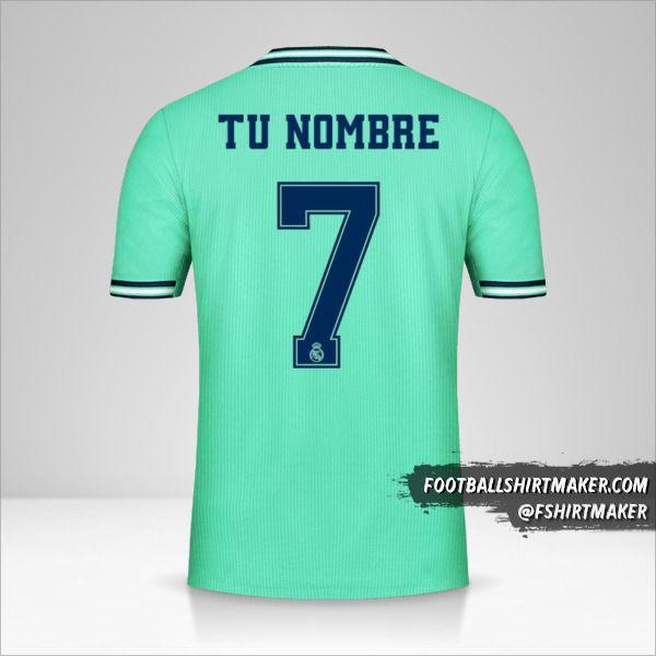 Camiseta Real Madrid CF 2019/20 Cup III número 7 tu nombre