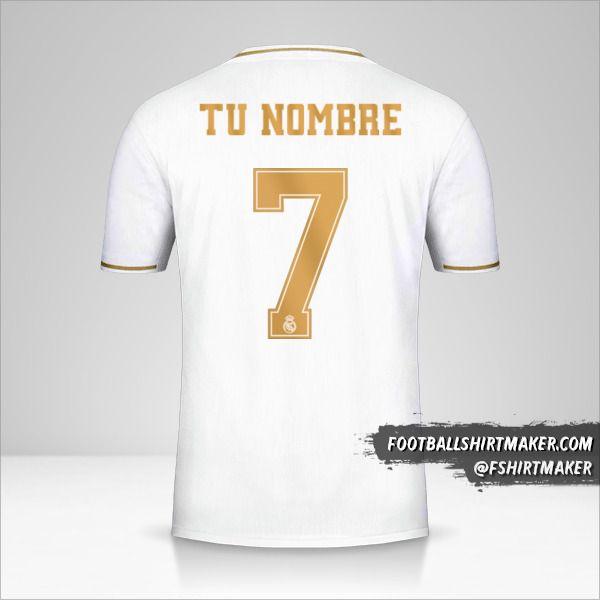 Camiseta Real Madrid CF 2019/20 Cup número 7 tu nombre