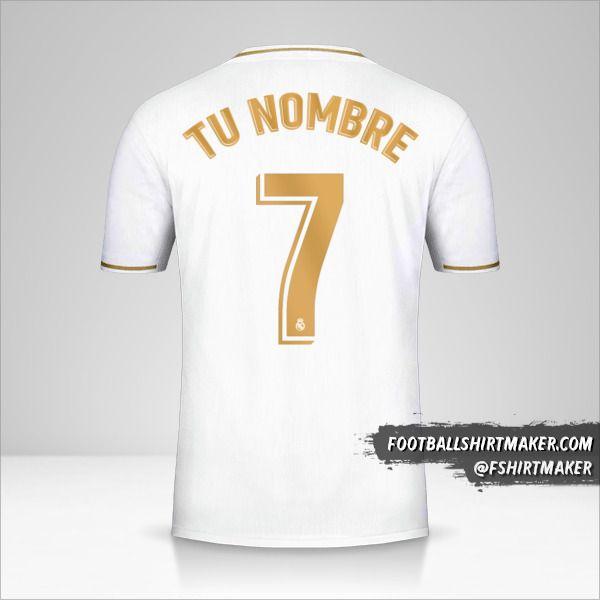 camiseta Real Madrid CF 2019/20 número 7 tu nombre