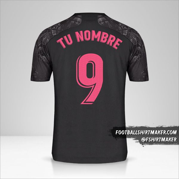 Camiseta Real Madrid CF 2020/21 III número 9 tu nombre