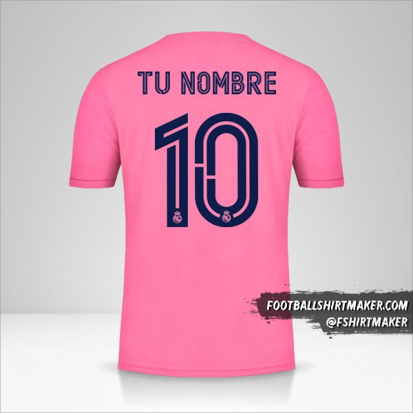 Camiseta Real Madrid CF 2020/21 Cup II número 10 tu nombre